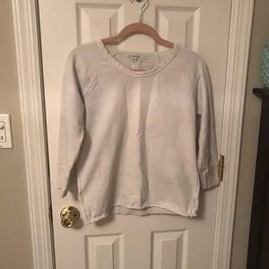 James Perse white crop sweat shirt